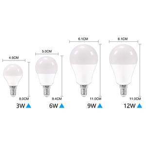 Image 4 - 10 יח\חבילה LED הנורה Dimmable מנורות E27 E14 220V 240V RGB Led הנורה חכם IC כוח אמיתי 24W 20W 18W 15W 12W 9W Lampada LED ומביליה