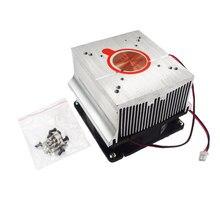 Disipador de calor del radiador, Kits de ventilador de refrigeración, disipación de calor de aluminio DC12V para 20W 30W 50W 100W Led de alta potencia