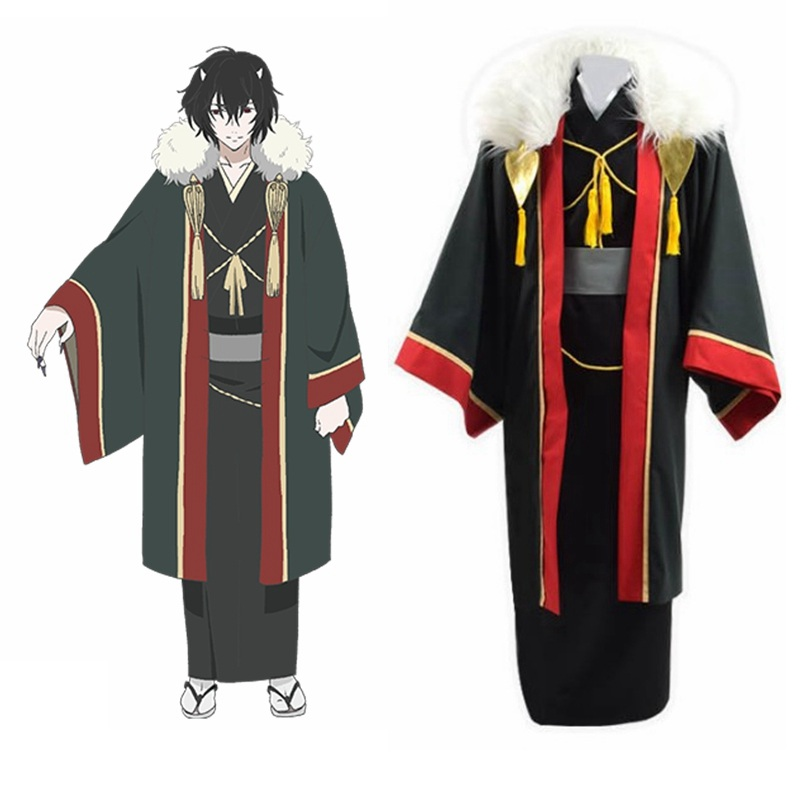 High-q unisexe Anime Cosplay Kakuriyo no Yadomeshi Costumes Kakuriyo chambre d'hôtes pour esprits Cosplay Costumes ensemble de Costumes