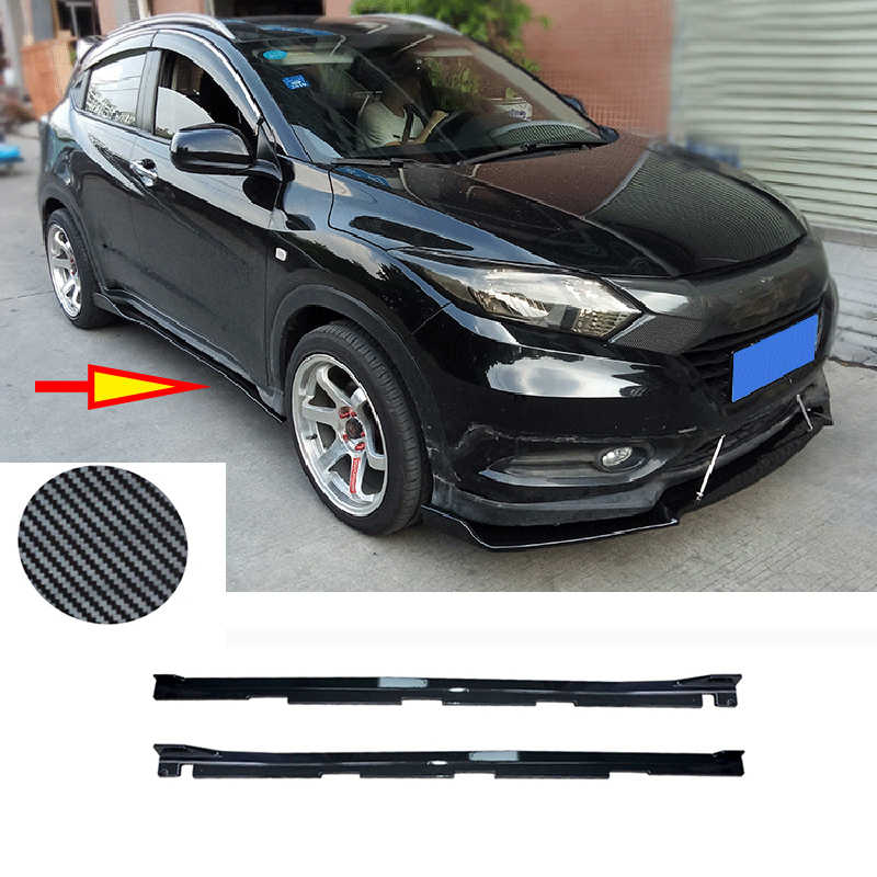 2pcs Per Honda Vezel HR-V 2016-2019 ABS Kit pannello esterno Del Corpo Laterale In Fibra di Carbonio car styling accessori