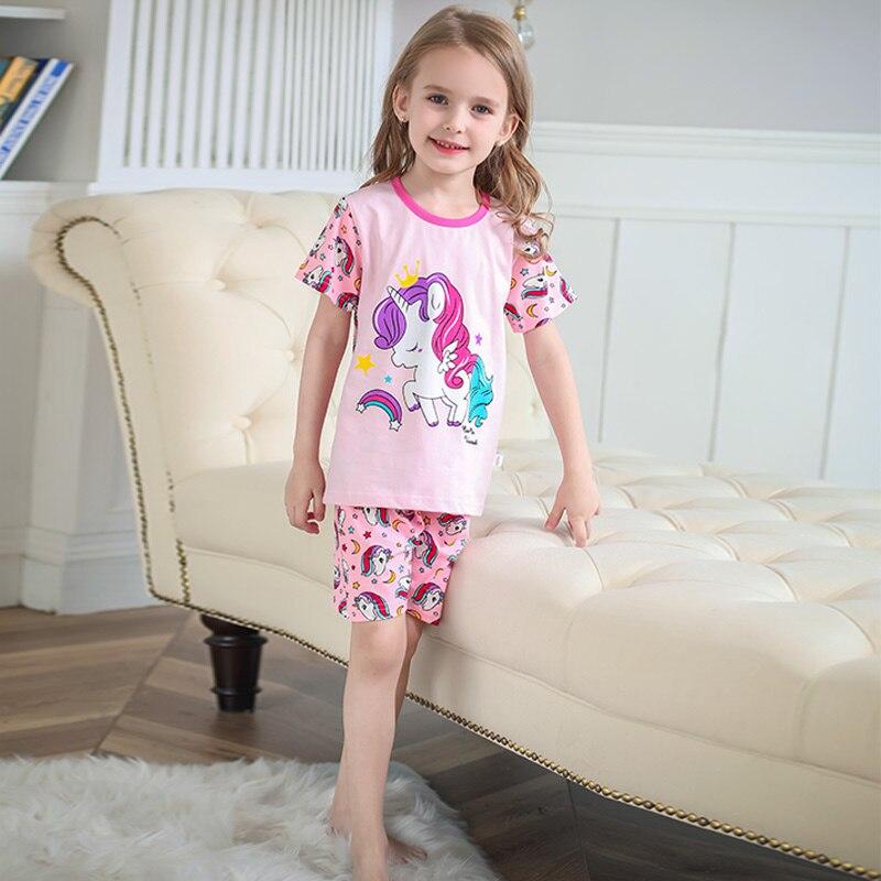 TUONXYE Kids Unicorn For Girls Fall Children's Pajamas Sets Long Sleeve Pyjamas Boys Cotton Pijamas Sleepwear 1