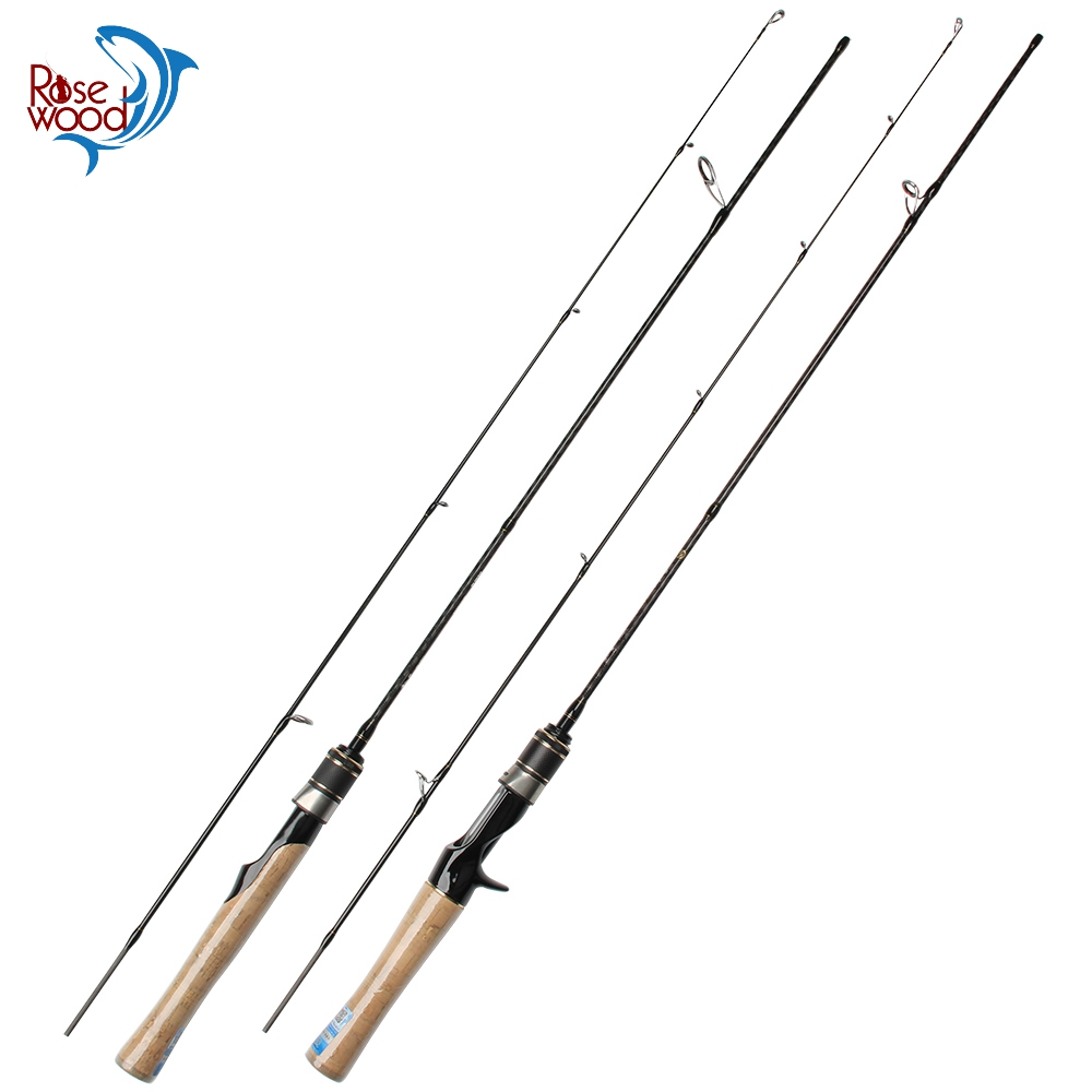 RoseWood 1.5m 2 Pieces UL Casting Rod Lure Weight 1-7g Ultra Light Spinning Fishing Rod Carbon Fiber Slow Action Pole For Trout
