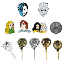Game Of Thrones Fashion Accessories Badge Enamel Lapel Pin Brooch Shirt Broches Backpack Bag Badge Women Men Figure Cosplay Gift цена