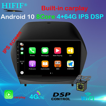 9 Super Slim Touch Screen Android 10 radio GPS Navigation for HYUNDAI Tucson IX35 2009-2014 Stereo Multimedia with Bluetooth image