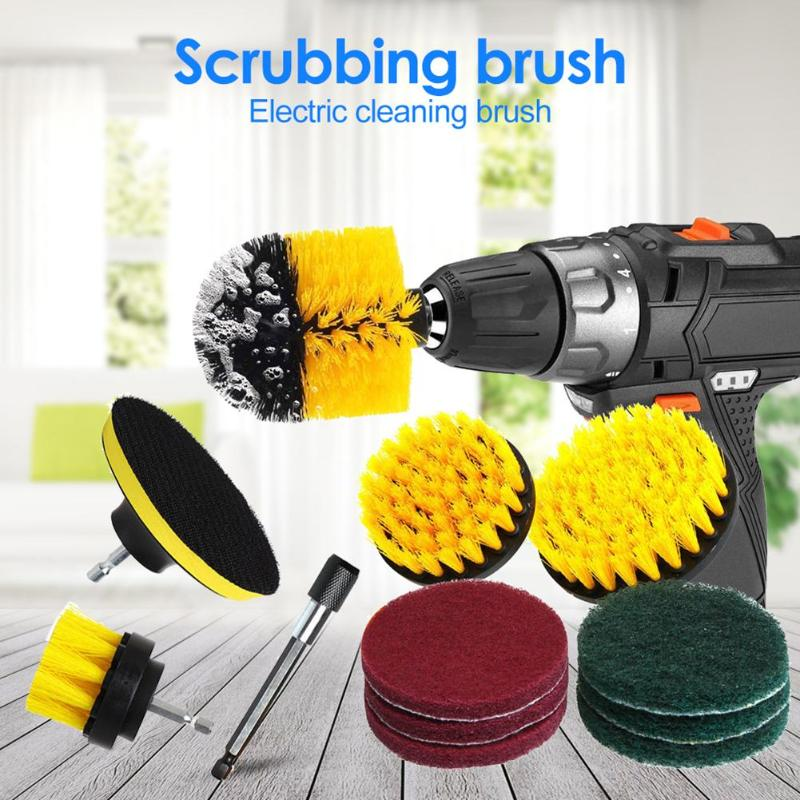 12pcs Electric Drill Brushes Power Scrubber Daily Durability Anti-rust and Anti-corrosion for Bathroom Surfaces Tub Cleaning