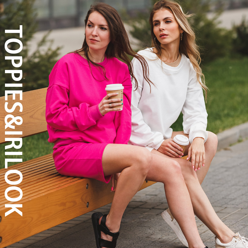toppies 2021 Women Two Piece Set Tracksuits O-neck Sweatshirts Elastic High Waist bermuda shorts solid color