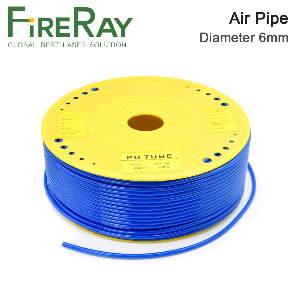 Fireray Air Pipe Air Hose Outer Diameter 6mm 6x4mm PU Tube For Air Compressor CO2 Laser Engraving Cutting Machine