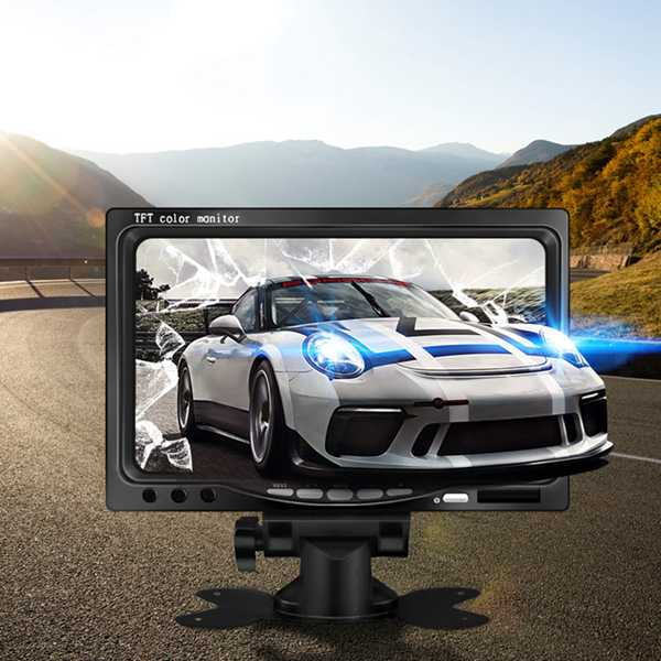 12V-24V <font><b>7</b></font> <font><b>inch</b></font> TFT LCD Color HD <font><b>Monitor</b></font> for Car CCTV Reverse Rear View Backup Camera image