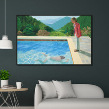 David Hockney Pool with Two Figures Canvas Home Decor Wall Posters and Prints Art Picture Living Room Printings(China)