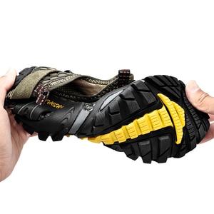 Image 3 - ビッグサイズ 39 48 男性登山靴メッシュbreathalbe屋外トレッキングスニーカー快適な登山靴男性