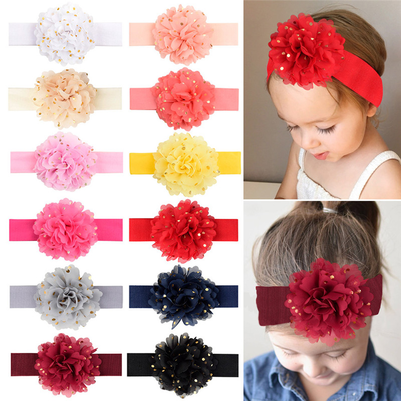 10//20X Mixed Headband Hair Clips Crystal Bowknot Flower Newborn Baby Toddler SET