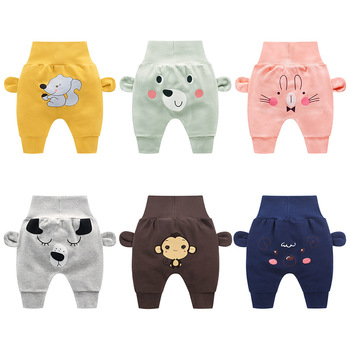 Child cute pants boys lady cartoon excessive waist safety stomach kids toddler spring autumn new child toddler trousers low cost stuff