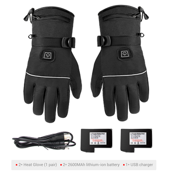 Waterproof Motorcycle Gloves Heated Guantes Moto Heating USB Hand Warmer Electric Thermal Heated Gloves Battery Powered Gloves 10