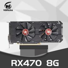 Karta graficzna Radeon RX 470 8GB 256Bit GDDR5 rx 470 PCI Express 3.0x16 AM gra komputerowa karty graficzne kompatybilny rx 580