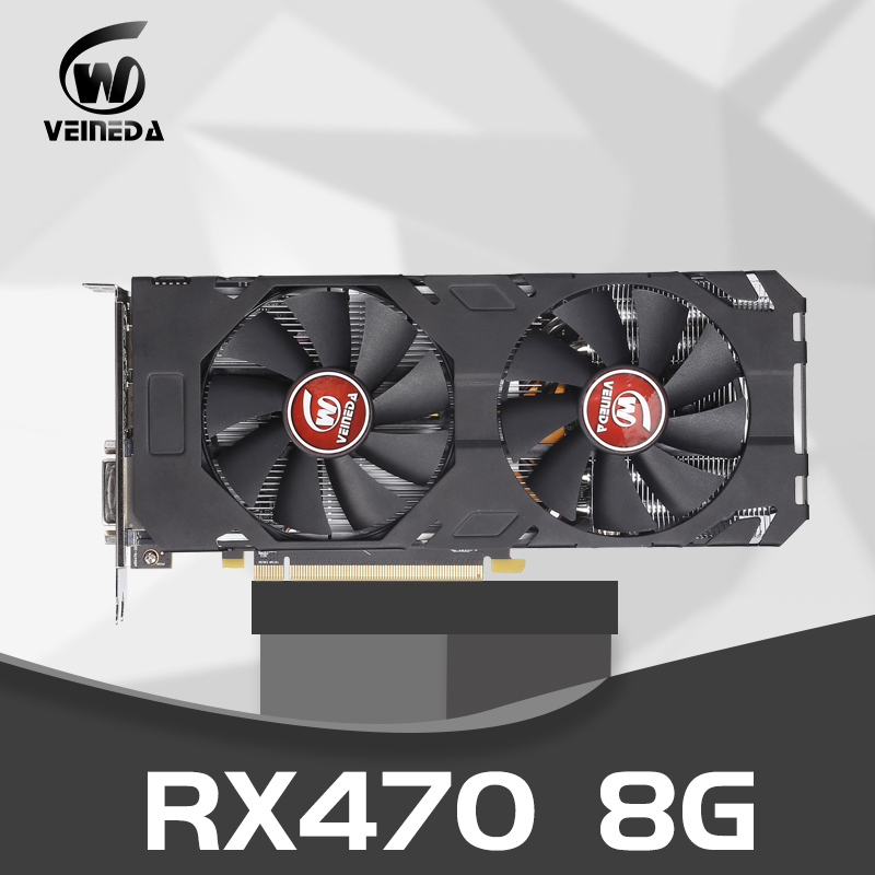 Video Card Radeon RX 470 8GB 256Bit GDDR5 Rx 470 PCI Express 3.0 X16  AM Desktop Game Graphic Cards Not Mining Compatible Rx 580