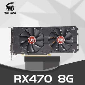 Image 1 - Video Card Radeon RX 470 8GB 256Bit GDDR5 rx 470 PCI Express 3.0 x16  AM Desktop Game graphic cards Compatible rx 580