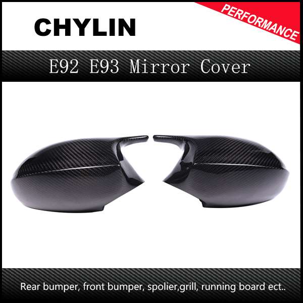 New Good Quality Carbon Fiber M3 Look Mirror Cap For BMW 3 Series E90 E91 2005-2007 E92 E93 pre-LCL 2006-2009 Rear Cover image
