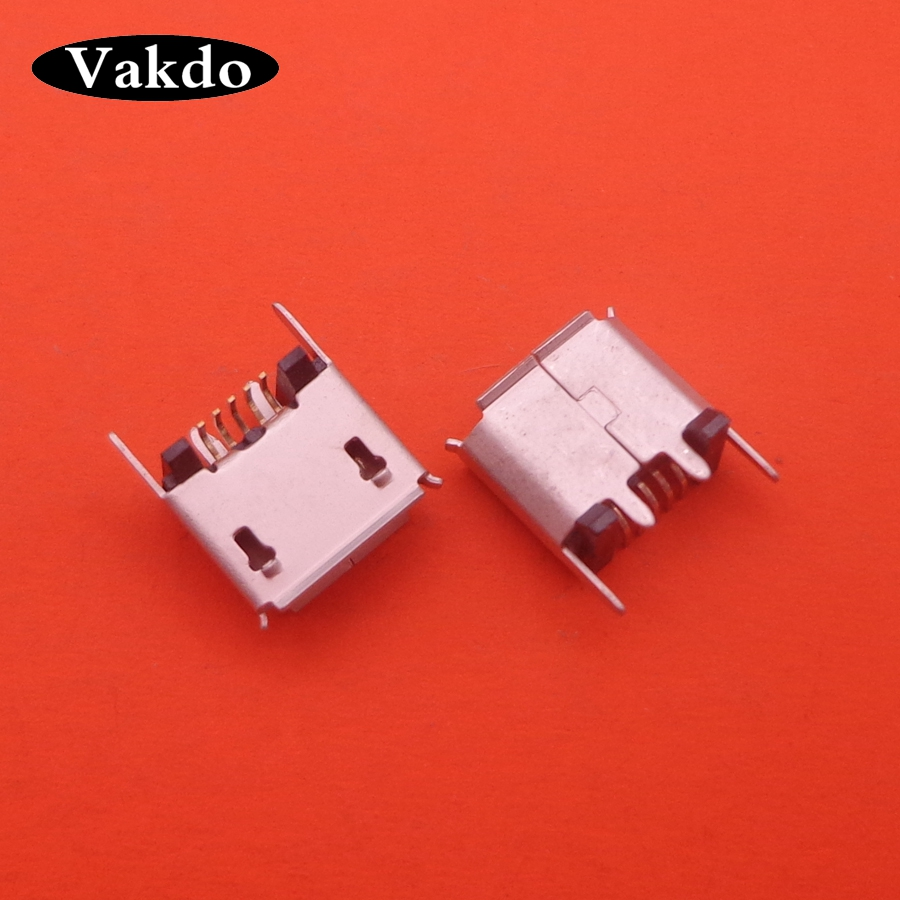 10-200pcs Micro Mini USB Jack Socket Charging Port Dock For ZX80-B-5P MICRO USB B Type Vertical SMT 5P Connector
