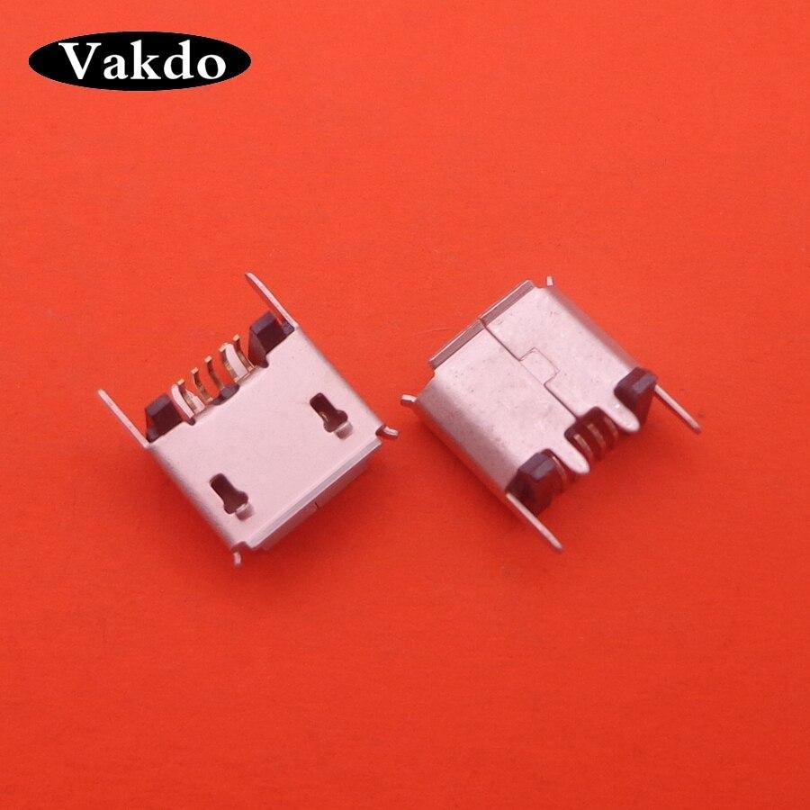 10-200pcs Micro Mini USB Jack Socket Charging Port Dock For ZX80-B-5P MICRO USB B Type Vertical SMT 5P Connector