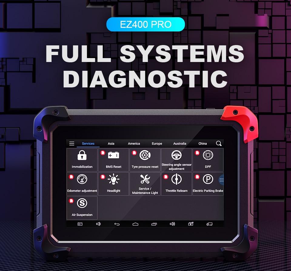 immobilizzatore Strumento diagnostico per Auto OBD2 Lettore di Codici Programmatore Reset Olio EPB//BMS//SAS//Dpf//TPMS Bluetooth WiFi remoto Xtool PS90