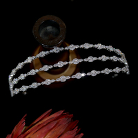 New cubic zirconia weddingtiara cr