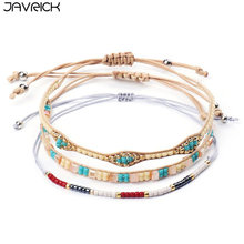 1 Set Bohemian Handmade Woven Beads Bracelet Fashion Simple Bracelets for Women Charm Jewelry Gift