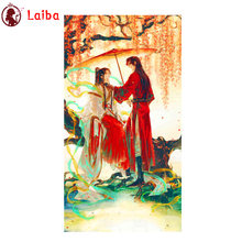 Diamond Painting Hot cartoon art, heavenly officials bless lovers Diamond Mosaic Embroidery crystal Beaded Handicraft