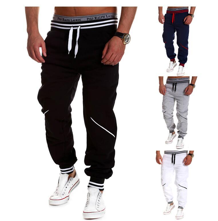 AliExpress Hot Selling Men'S Wear New Style Contrast Color Casual Trousers Cross Border Men Beam Leg Athletic Pants Trend Versat