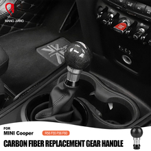 Replacement Genuine Real Carbon Fiber Gear Shift Handle Knob Cover for Mini Cooper R56 F55 F56 F60 Car Accessories Gearbox Refit