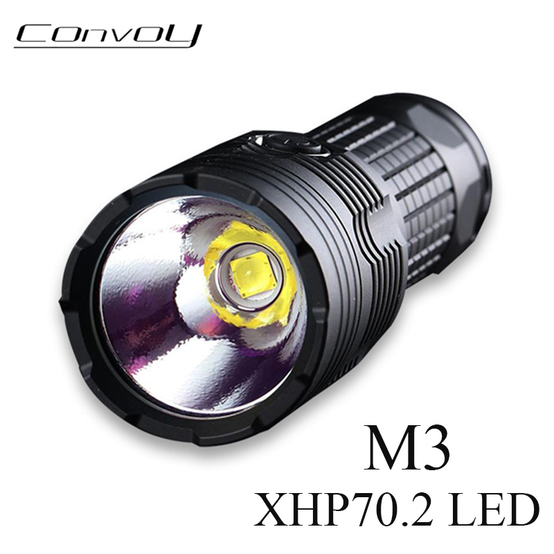 Most Powerful Linterna LED Flashlight Convoy M3 with Cree XHP70.2 4300lm Temperature Protection 18650 26650 Torch Flash Light