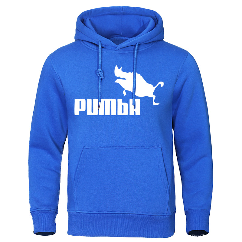 Brand Men's Hoodies 2019 Autumn Winter Costume Homme Pumba Sweatshirts Funny Male Clothing Cotton Hip Hop Tops Fashion Pullovers