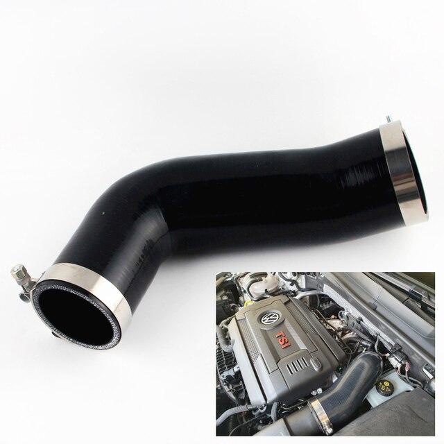 Silikon Turbo Einlass Ellenbogen Rohr Intake Schlauch Für VW Golf MK7 R Audi V8 MK3 A3 S3 TT 2,0 T 2014 +