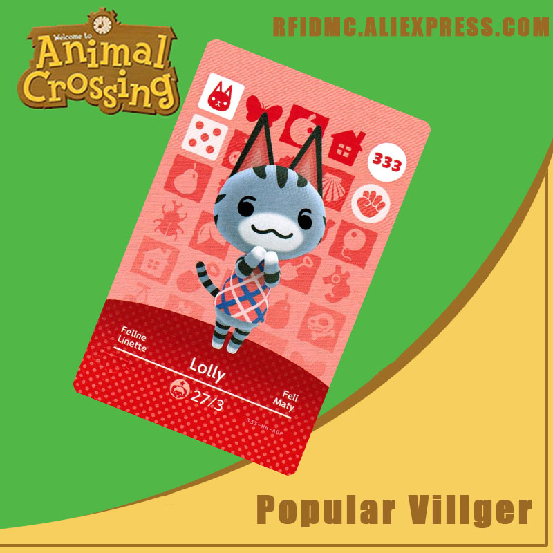 333 Lolly Animal Crossing Card Amiibo For New Horizons