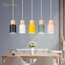 Lampe suspendue en bois au design nordique moderne, luminaire décoratif dintérieur, idéal pour un Loft, une salle à manger, un Restaurant ou un hôtel, E27 220V