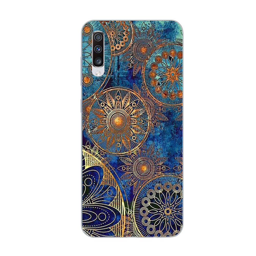Image 4 - ciciber Phone Case for Samsung Galaxy A50 A70 A80 A40 A30 A20 A60 A10 A20e Soft Silicone Mandala Flower Pattern Cover Funda Capa-in Fitted Cases from Cellphones & Telecommunications