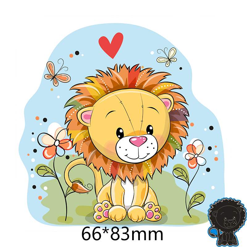 66*83mm Lion Metal Cutting Dies For Card DIY Scrapbooking Stencil Paper Craft Album Template Dies
