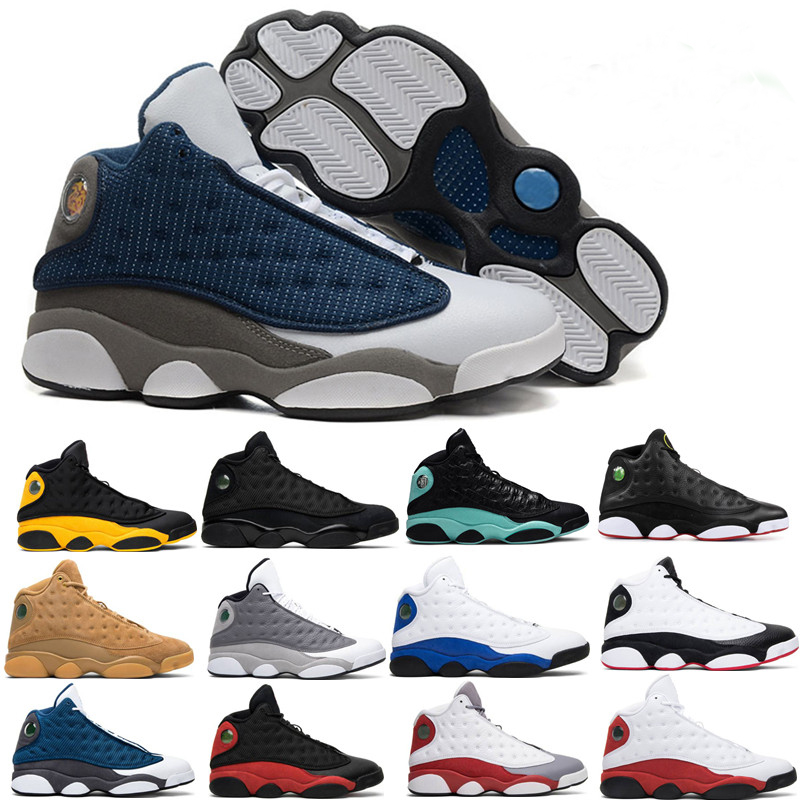 13 13s Island Green Mens Basketball Shoes Cap And Gown Phantom GS Hyper Royal Black Cat Flints Bred  Wheat DMP Sports Sneakers