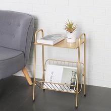 Креативные Стразы золотистые металлические журнальный столик гостиная придиванный столик передвижной обеденный стол дешевый стол журнальный Стеллаж Мебель для дома