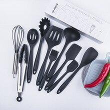 Silicone Kitchenware High Temperature 10 Piece Set Nonstick Cookware Spatula Spoon