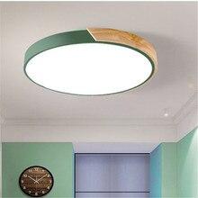 Nordic Simple Kitchen Loft LED Ceiling Light Living Study Dinning Room Modern Creative Wood Bedroom Aisle Lustre Lamp Garland цена