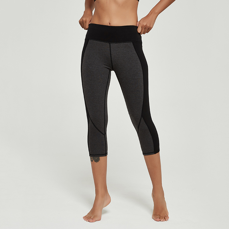 Cardism High Waist Women's Yoga Pants  Sports Leggings For Fitness  Calf-Length Running Push Up Sweatpants Splicing Women Pants 2