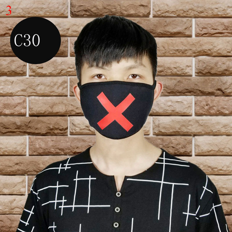 Cartoon Dust-proof Cotton Mask Men Unisex Face Mouth Mask Anti Dust Outdoor Health Care Masks Fashion Mask