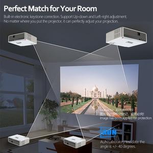 Image 3 - AUN 풀 HD 프로젝터 AKEY6/S, 6800 루멘 1920x1080P 홈 시네마 (옵션 안드로이드 6.0 WIFI) HDMI VGA for GYM 4K Video Proyector