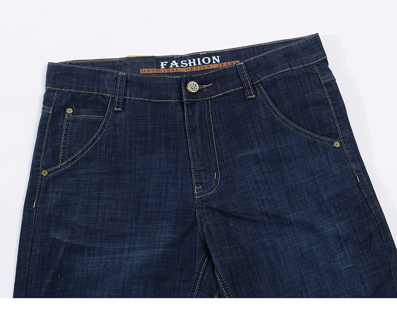 KSTUN Jeans Men Shorts Dark Blue Ultrathin Stretch Business Casual Straight Regular Fit Male Denim Short Pants Mens Shorts Homme 13