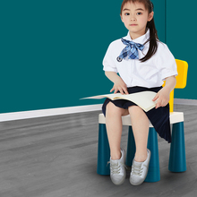 Stool Plastic Small Children's Kindergarten Bench for Shoes Anti-Skid Thickening Simple