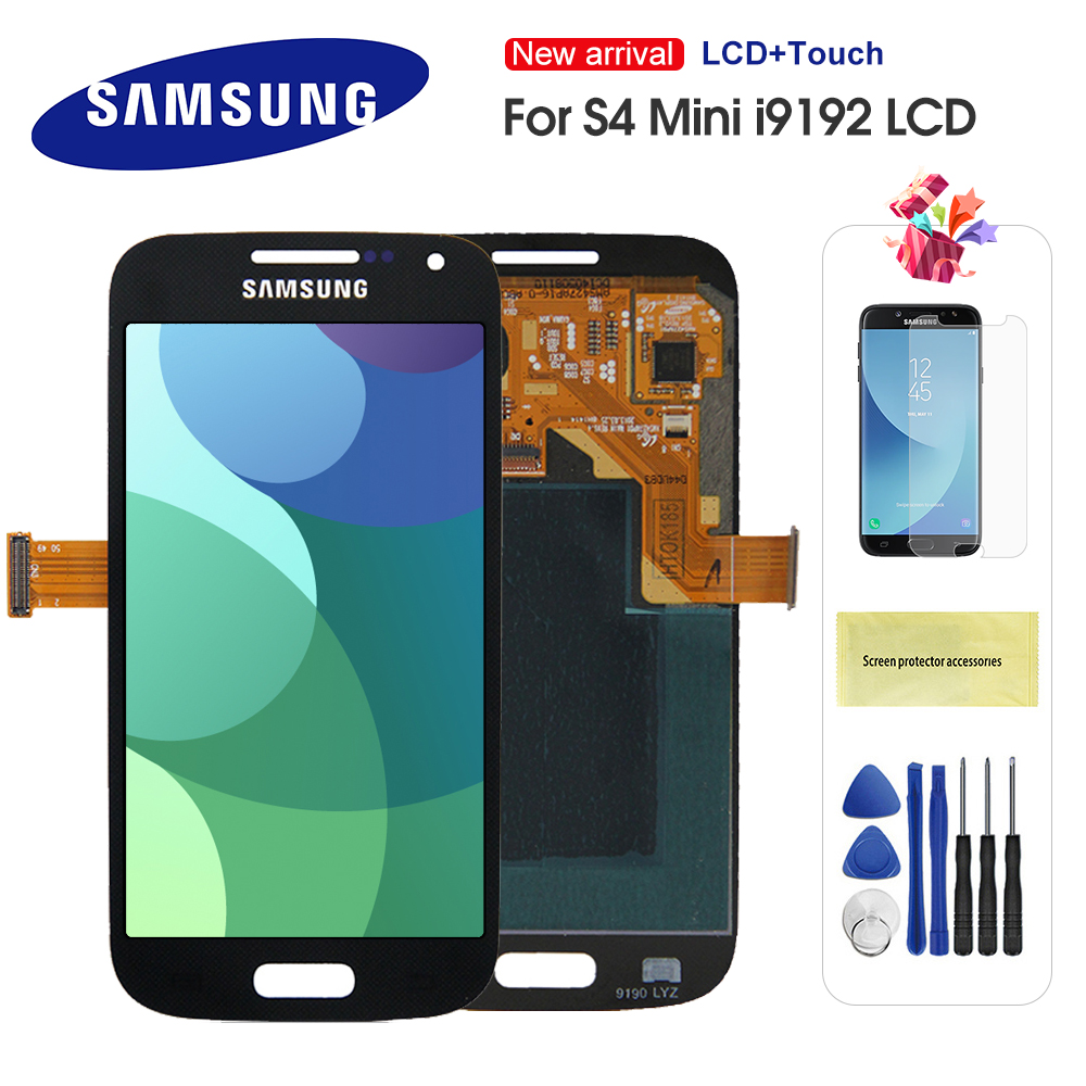 <font><b>LCD</b></font> For <font><b>Samsung</b></font> <font><b>Galaxy</b></font> <font><b>S4</b></font> <font><b>Mini</b></font> <font><b>I9190</b></font> i9192 i9195 Phones <font><b>LCD</b></font> Display Touch <font><b>Screen</b></font> Digitizer Replacement with Frame image