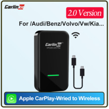 Carlinkit-activador Dongle inalámbrico Apple CarPlay, para Audi, Proshe, Benz, VW, Volvo, Car play, IOS 14, con cable para conectar y listo