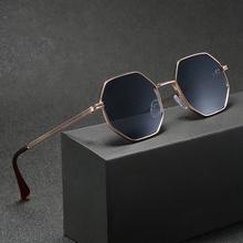 Higodoy Polygon Sonnenbrille Männer Vintage Octagon Metall Sonnenbrille für Frauen Luxus Marke Goggle Sonnenbrille Damen Gafas De Sol cheap CN (Herkunft) RESIN Erwachsene ALLOY NONE MIRROR UV400 46mm DB59 50mm