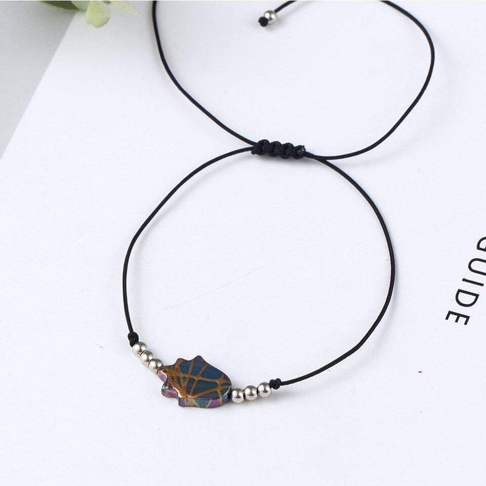 Boho Ankle Bracelet Bohemian Colorful Heart Beads Jesus Cross Turtle Butterfly Infinity Triangle Anklet Women's Leg Bracelet (44)