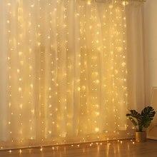 3x 3/6x3m led string luzes de natal icicle luzes de parede para festa de casamento jardim ao ar livre d
